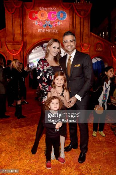 Actor Jaime Camil and family at the US Premiere of DisneyPixar's 'Coco' at the El Capitan Theatre on November 8 in Hollywood California