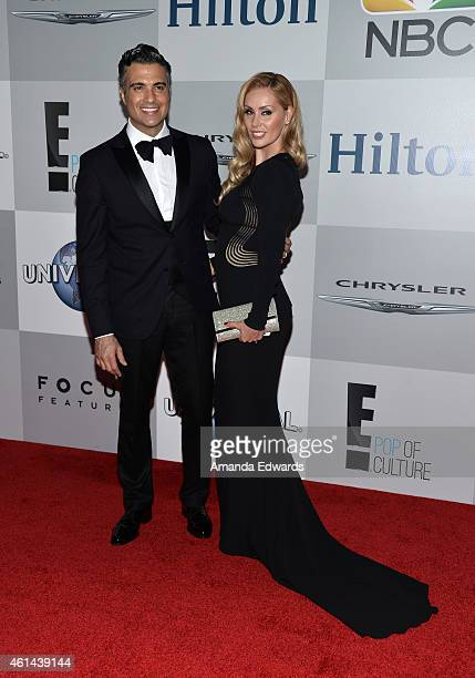 Actor Jaime Camil and Heidi Balvanera arrive at NBCUniversal's 72nd Annual Golden Globes After Party at The Beverly Hilton Hotel on January 11 2015...