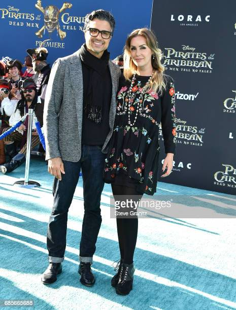 Actor Jaime Camil and Heidi Balvanera arrives at the Premiere Of Disney's Pirates Of The Caribbean Dead Men Tell No Tales at Dolby Theatre on May 18...