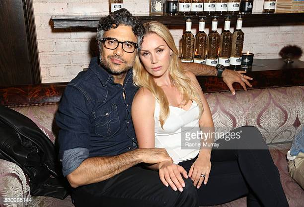 Actor Jaime Camil and Heidi Balvanera attend Los Angeles Says Hello To Humito The World's First Smoked Silver Tequila by Maestro Dobel Tequila on May...