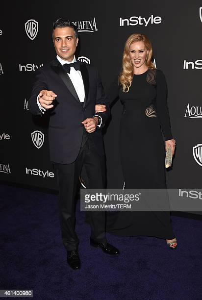 Actor Jaime Camil and Heidi Balvanera attend the 2015 InStyle And Warner Bros 72nd Annual Golden Globe Awards PostParty at The Beverly Hilton Hotel...