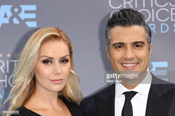 Actor Jaime Camil and Heidi Balvanera attend the 21st Annual Critics' Choice Awards at Barker Hangar on January 17 2016 in Santa Monica California