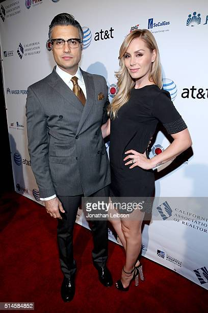 Actor Jaime Camil and Heidi Balvanera attend the California Fire Foundation 2016 Gala at Avalon Hollywood on March 9 2016 in Los Angeles California