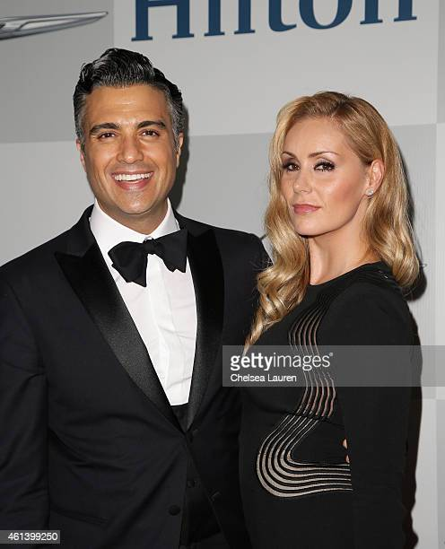 Actor Jaime Camil and Heidi Balvanera attend the NBCUniversal 2015 Golden Globe Awards Party sponsored by Chrysler at The Beverly Hilton Hotel on...
