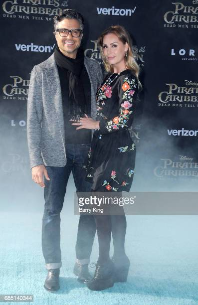 Actor Jaime Camil and Heidi Balvanera attend the premiere of Disney's 'Pirates Of The Caribbean Dead Men Tell No Tales' at Dolby Theatre on May 18...