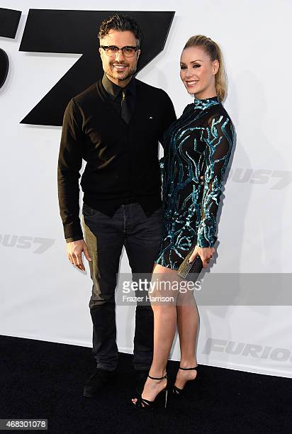 Actor Jaime Camil and Heidi Balvanera attend Universal Pictures' Furious 7 premiere at TCL Chinese Theatre on April 1 2015 in Hollywood California