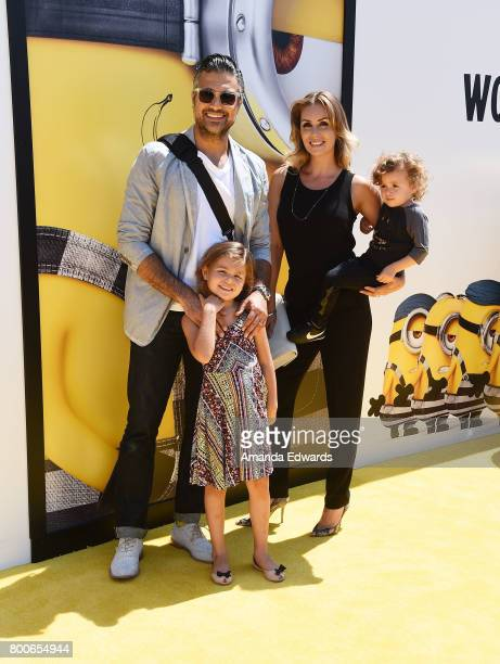 Actor Jaime Camil and his family arrive at the premiere of Universal Pictures and Illumination Entertainment's Despicable Me 3 at The Shrine...