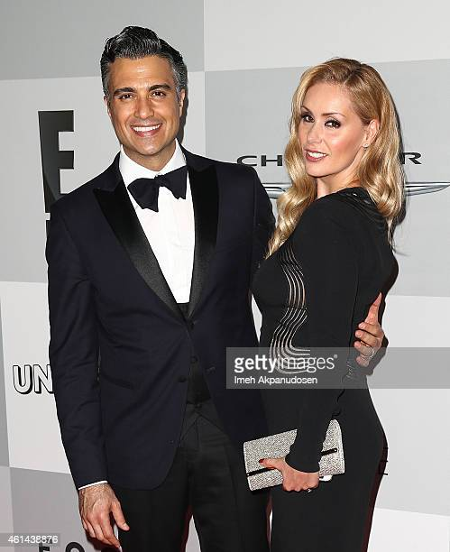 Actor Jaime Camil and his wife Heidi Balvanera attend NBCUniversal's 72nd Annual Golden Globes After Party at The Beverly Hilton Hotel on January 11...