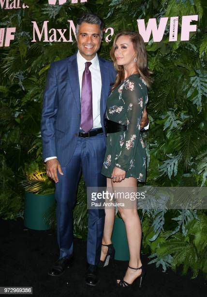 Actor Jaime Camil and his Wife Heidi Balvanera attend the Max Mara WIF Face Of The Future event at the Chateau Marmont on June 12 2018 in Los Angeles...