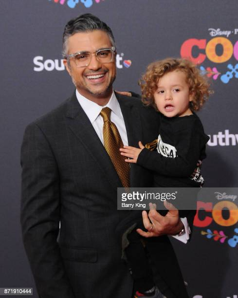 Actor Jaime Camil and son Jaime Camil III attend the US Premiere of Disney Pixar's 'Coco' at El Capitan Theatre on November 8 2017 in Los Angeles...