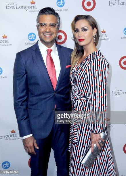 Actor Jaime Camil and wife Heidi Balvanera attend the Eva Longoria Foundation annual dinner at Four Seasons Hotel Los Angeles at Beverly Hills on...