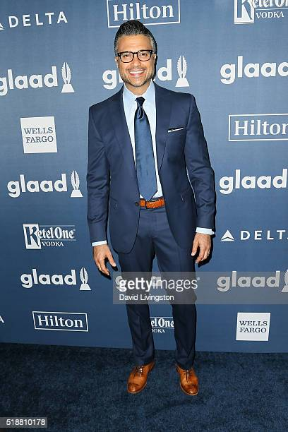 Actor Jaime Camil arrives at the 27th Annual GLAAD Media Awards at The Beverly Hilton Hotel on April 2 2016 in Beverly Hills California