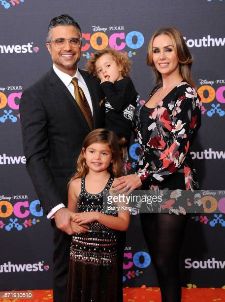 Actor Jaime Camil daughter Elena Camil son Jaime Camil III and his wife Heidi Balvanera attend the US Premiere of Disney Pixar's 'Coco' at El Capitan...