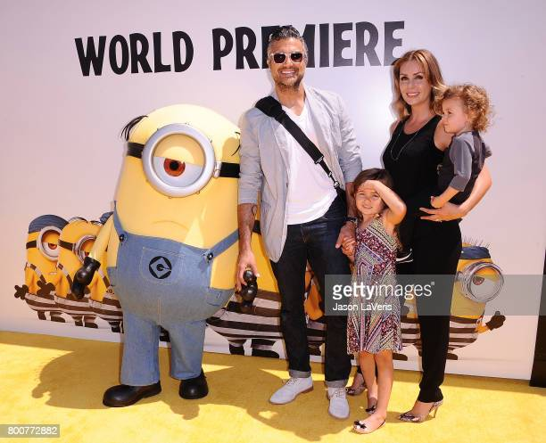 Actor Jaime Camil Heidi Balvanera Jaime Camil III and Elena Camil attend the premiere of Despicable Me 3 at The Shrine Auditorium on June 24 2017 in...