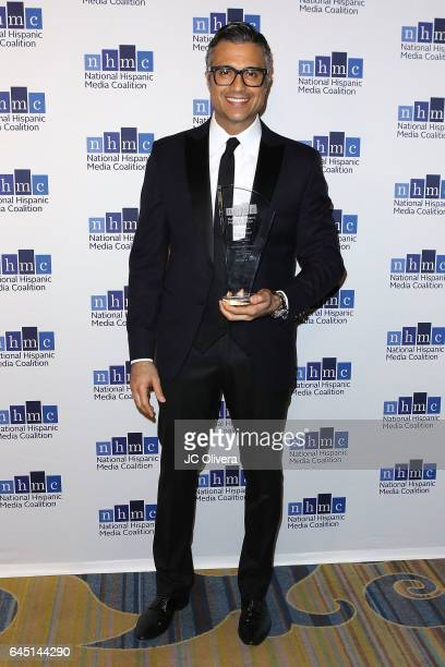 Actor Jaime Camil wins 'The Outstanding Performance in a Television Series Impact Award' for 'Jane the Virgin' during the 20th Annual National...