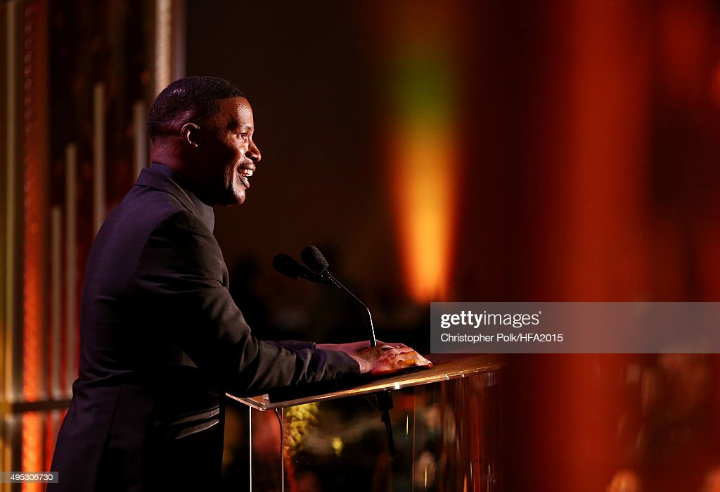 Actor Jaime Foxx speaks onstage during the 19th Annual Hollywood Film Awards at The Beverly Hilton Hotel on November 1, 2015 in Beverly Hills, California.