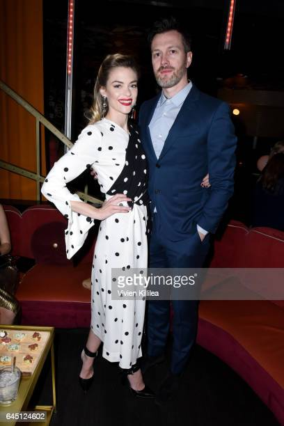 Actor Jaime King and Kyle Newman attend the tenth annual Women in Film PreOscar Cocktail Party presented by Max Mara and BMW at Nightingale Plaza on...