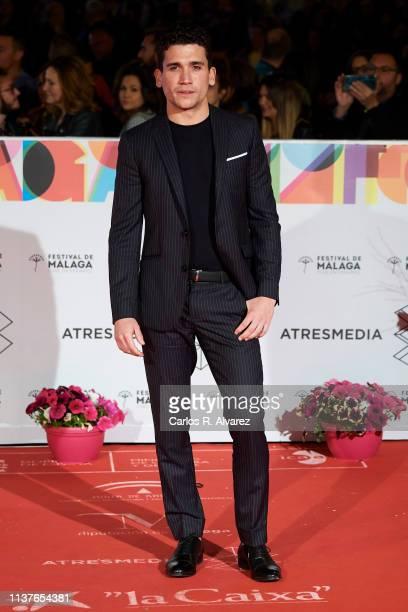 Actor Jaime Lorente attends the 'Retrospeciva' award ceremony during the 22th Malaga Film Festival on March 22 2019 in Malaga Spain