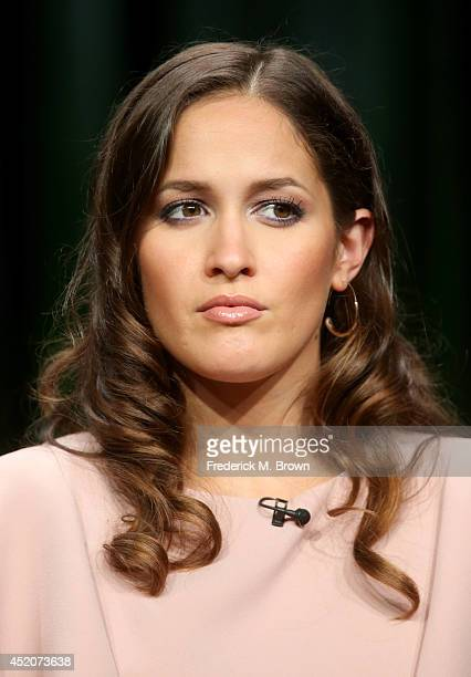 Actor Jaina Lee Ortiz speaks onstage at the 'The After' panel during the Amazon Prime Instant Video portion of the 2014 Summer Television Critics...