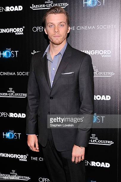 Actor Jake Abel attends The Cinema Society JaegerLeCoultre Hosts A Screening Of 'The Host' at Tribeca Grand Hotel on March 27 2013 in New York City