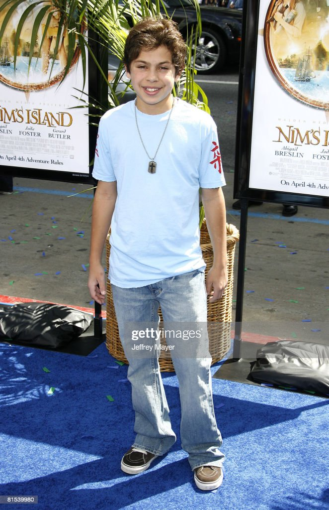 Actor Jake Austin arrives at the Premiere of Fox Walden Film's 'Nim's Island' on March 30, 2008 at the Grauman' s Chinese Theater in Hollywood, California.