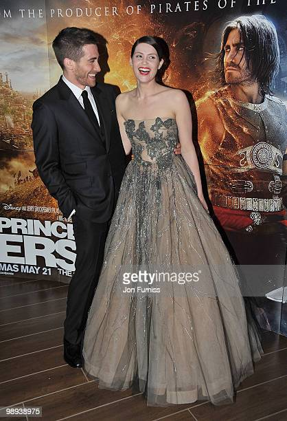 Actor Jake Gyllenhaal and actress Gemma Arterton attend the 'Prince Of Persia: The Sands Of Time' world premiere at the Vue Westfield on May 9, 2010...