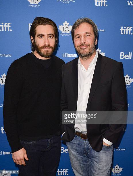 Actor Jake Gyllenhaal and Denis Villeneuve speak at their QA for the film 'Enemy' at TIFF Bell Lightbox on January 5 2014 in Toronto Canada