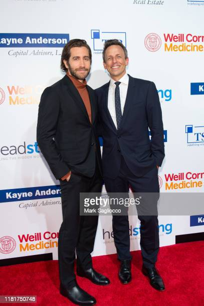 Actor Jake Gyllenhaal and TV Personality Seth Meyers attend the 7th Annual Headstrong Gala at Pier Sixty at Chelsea Piers on October 17 2019 in New...