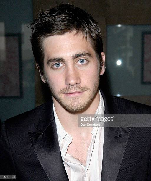 Actor Jake Gyllenhaal arrives at the ACLU Foundation of Southern California Torch of Liberty Awards Dinner at the Beverly Hilton Hotel on May 19 2003...