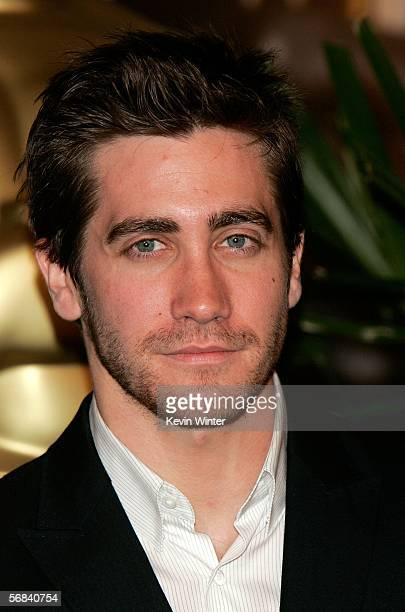 Actor Jake Gyllenhaal arrives at the Oscar Nominees Luncheon at the Beverly Hilton Hotel on February 13 2006 in Beverly Hills California