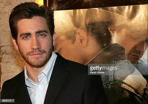 Actor Jake Gyllenhaal arrives at the premiere of Brokeback Mountain at the Mann National Theater on November 29 2005 in Westwood California
