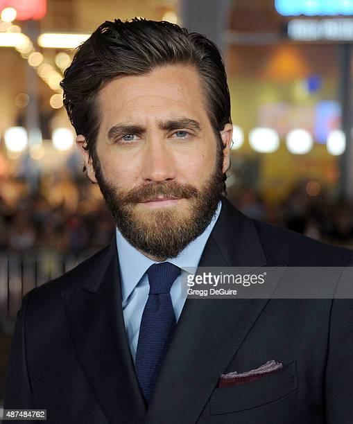 Actor Jake Gyllenhaal arrives at the premiere of Universal Pictures' 'Everest' at TCL Chinese 6 Theatres on September 9 2015 in Hollywood California