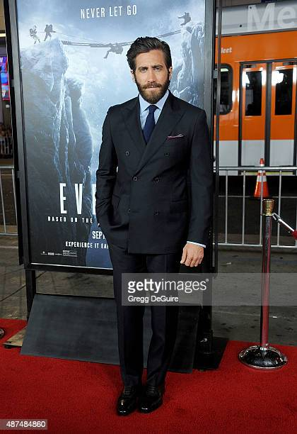 Actor Jake Gyllenhaal arrives at the premiere of Universal Pictures' Everest at TCL Chinese 6 Theatres on September 9 2015 in Hollywood California