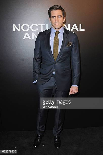Actor Jake Gyllenhaal arrives at the screening of Focus Features' 'Nocturnal Animals' at Hammer Museum on November 11 2016 in Westwood California