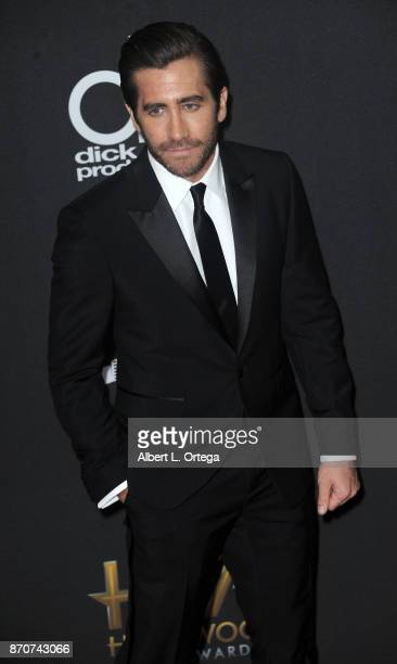 Actor Jake Gyllenhaal arrives for the 21st Annual Hollywood Film Awards held at The Beverly Hilton Hotel on November 5 2017 in Beverly Hills...