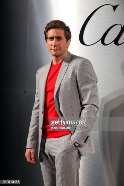 Actor Jake Gyllenhaal arrives on the red carpet for the Santos de Cartier Watch at Pier 48 on April 5, 2018 in San Francisco, California.
