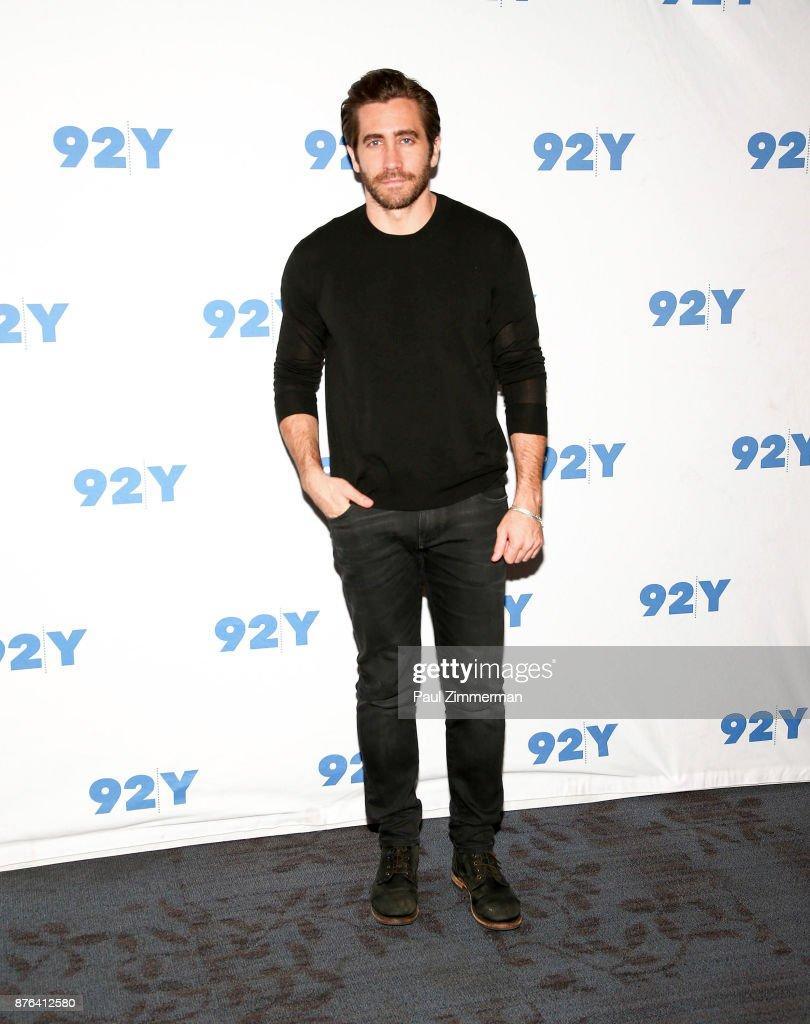 Actor Jake Gyllenhaal attends 92Y Presents: Jake Gyllenhaal In Conversation at 92nd Street Y on November 19, 2017 in New York City.