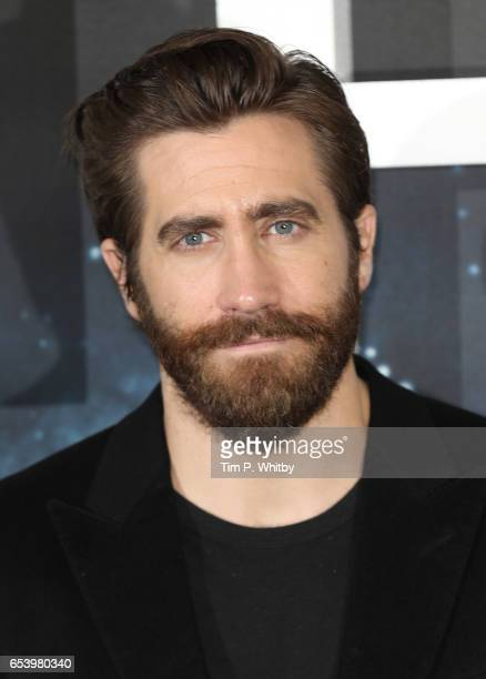Actor Jake Gyllenhaal attends a photocall for 'Life' at the Corinthia Hotel on March 16 2017 in London England 'Life' is released in cinemas...