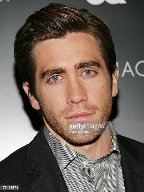 Actor Jake Gyllenhaal attends a special screening of Zodiac hosted by The Cinema Society and GQ Magazine at the Tribeca Grand Hotel Screening Room...