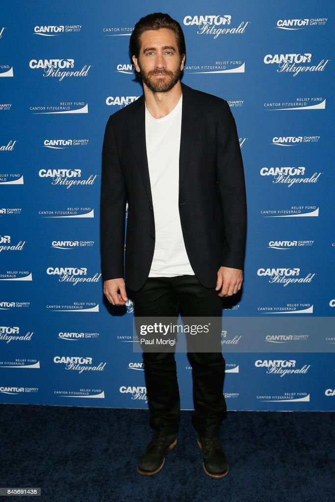 Actor Jake Gyllenhaal attends Annual Charity Day hosted by Cantor Fitzgerald, BGC and GFI at Cantor Fitzgerald on September 11, 2017 in New York City.