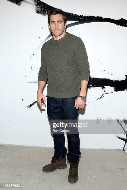 Actor Jake Gyllenhaal attends AOL's BUILD Speaker Series at AOL Studios In New York on November 3 2014 in New York City