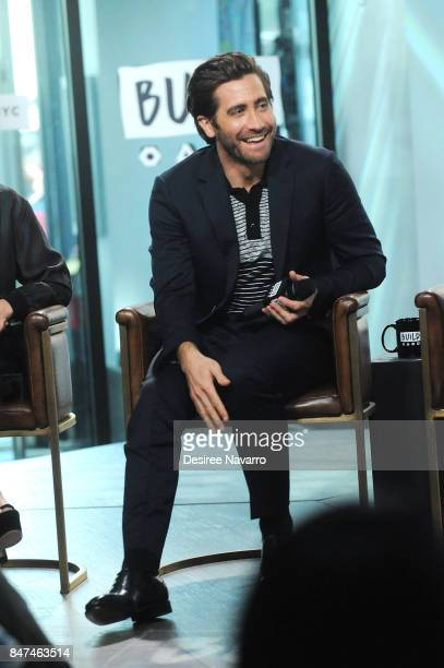 Actor Jake Gyllenhaal attends Build to discuss 'Stronger' at Build Studio on September 15 2017 in New York City