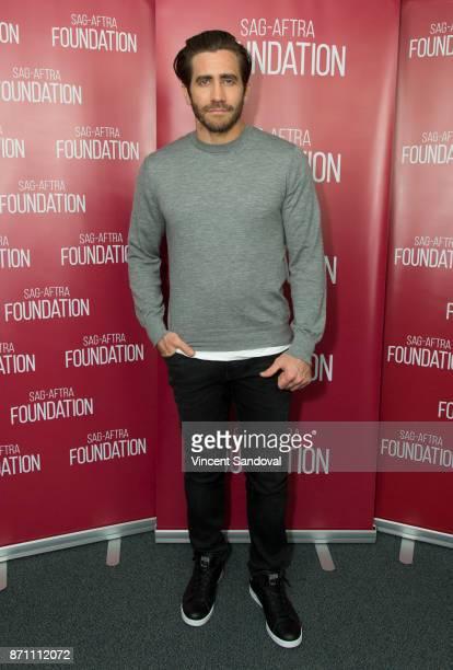 Actor Jake Gyllenhaal attends SAGAFTRA Foundation Conversations screening of 'Stronger' at SAGAFTRA Foundation Screening Room on November 6 2017 in...