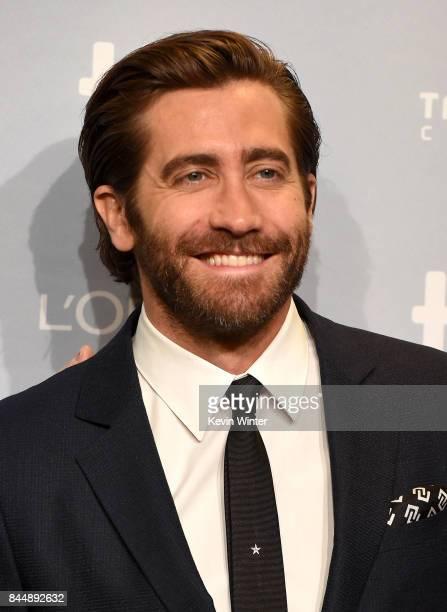 Actor Jake Gyllenhaal attends 'Stronger' press conference during 2017 Toronto International Film Festival at TIFF Bell Lightbox on September 9 2017...