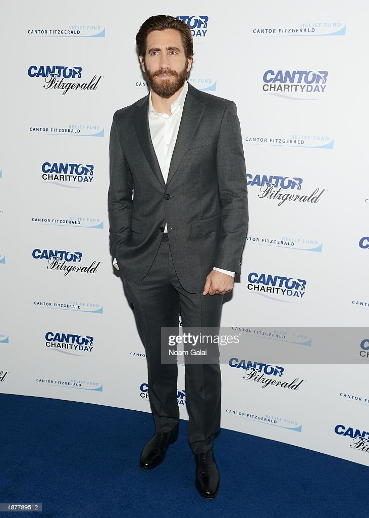 Actor Jake Gyllenhaal attends the annual Charity Day hosted by Cantor Fitzgerald and BGC at Cantor Fitzgerald on September 11, 2015 in New York City.