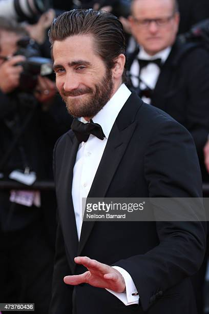 Actor Jake Gyllenhaal attends the Premiere of Carol during the 68th annual Cannes Film Festival on May 17 2015 in Cannes France
