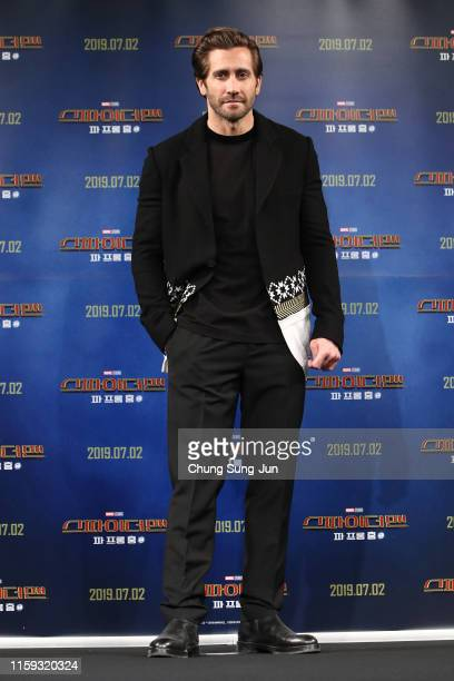Actor Jake Gyllenhaal attends the press conference for 'Spider-Man: Far From Home' South Korea Premiere on July 01, 2019 in Seoul, South Korea.