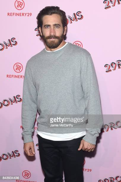 Actor Jake Gyllenhaal attends the Refinery29 Third Annual 29Rooms Turn It Into Art event on September 7 2017 in the Brooklyn borough of New York City