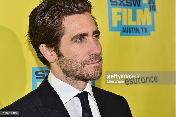 Actor Jake Gyllenhaal attends the screening of Demolition during the 2016 SXSW Music Film Interactive Festival at Paramount Theatre on March 12 2016...