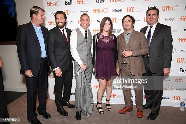 Actor Jake Gyllenhaal Director JeanMarc Vallee Executive Producer Nathan Ross and guests attend the 'Demolition' Fox Searchlight VVS and Sierra...